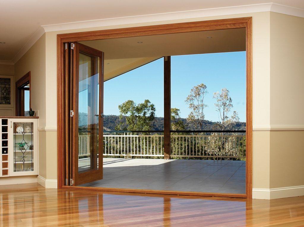 bi-folding doors - full width